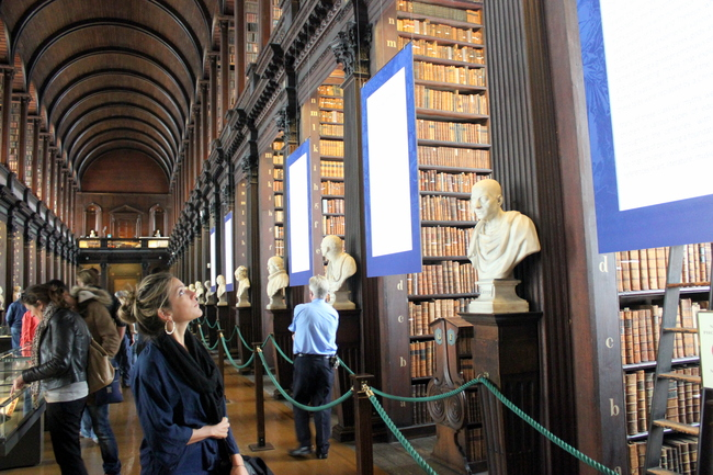 Book of Kells at Trinity College, Dublin, Ireland