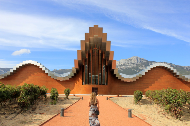 Wine Tasting, Bodegas Ysios, La Rioja, Spain