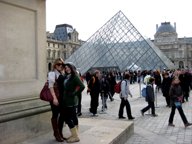 At the Louvre in Paris