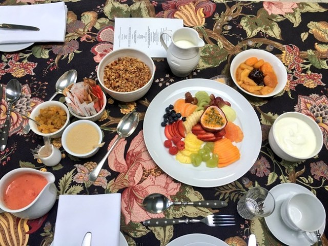 Breakfast at Akademie Guest House, Franschhoek