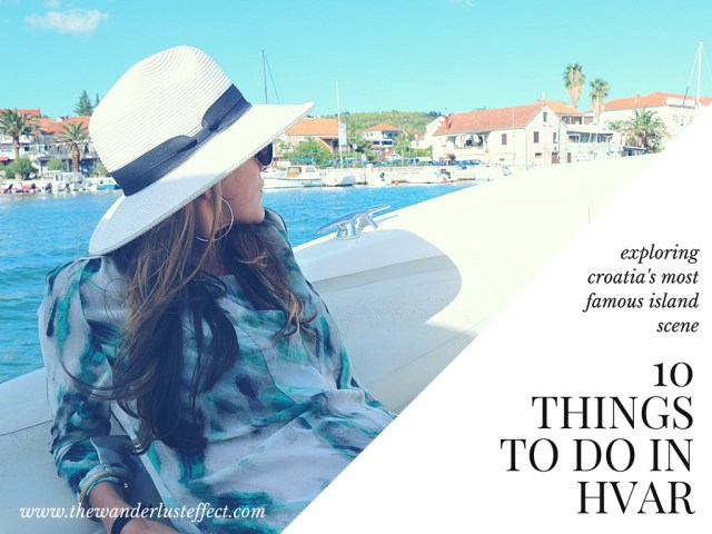 Island Hop in Hvar // 10 Things to Do in Hvar