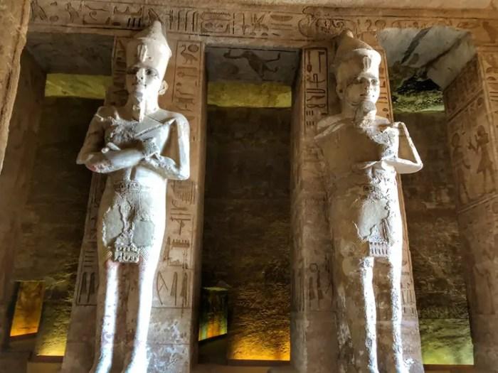 Interiors of Abu Simbel Temple