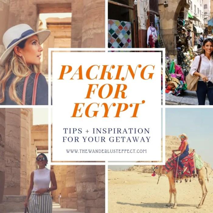 Packing for Egypt