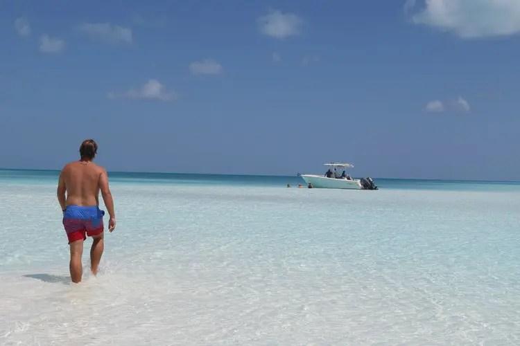 Boat to Sandy Cay, Exumas
