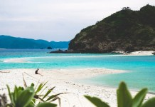 There are beautiful beaches such as Furuzamami Beach and Ama Beach, and many tourists visit the island