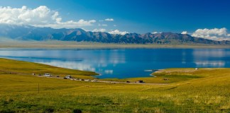 "Sailimu Lake, formerly known as ""Net Sea"", is located in the northern Tianshan Mountains in Bole City, Bortala Mongolian Autonomous Prefecture, Xinjiang Uygur Autonomous Region, China. It is adjacent to Huocheng County of Yili Kazakh Autonomous Prefecture and is the highest mountain in Xinjiang"