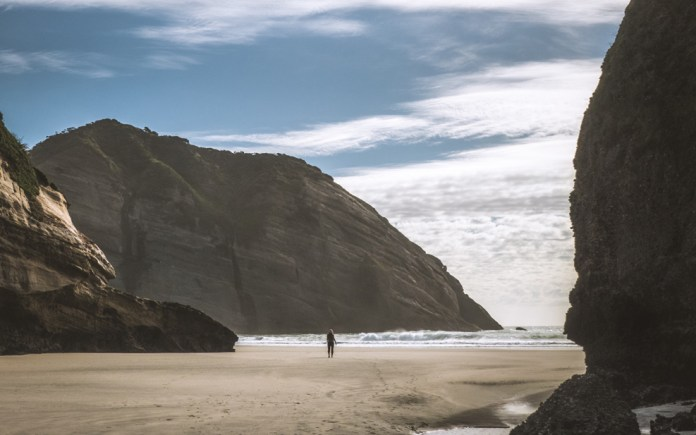 Wharariki Beach is a beach west of Cape Farewell, the northernmost point of the South Island of New Zealand