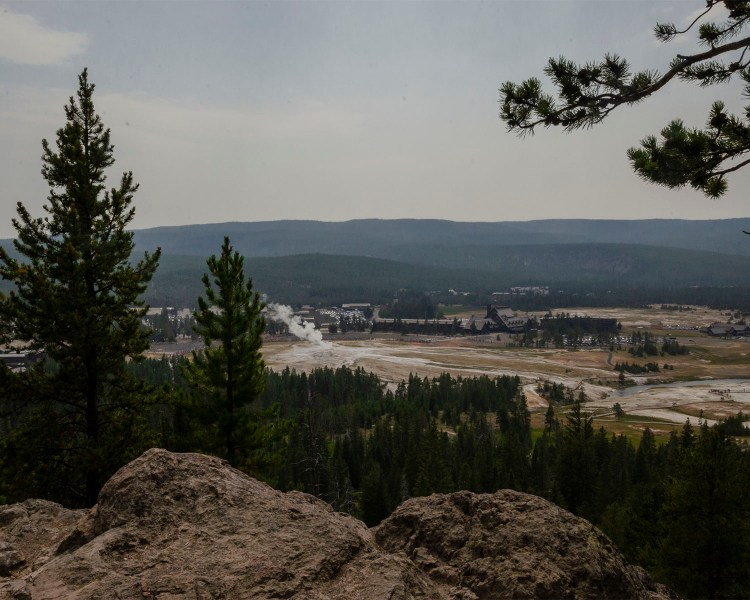 Old Faithful View from top trail