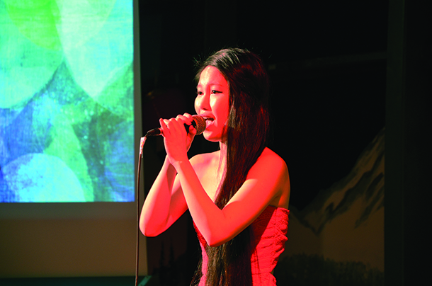 Emily Chen singing Song of The Mountain.