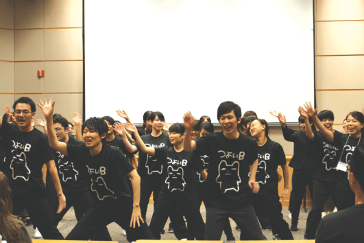 Students danced at the end of their presentation. Photo Courtesy of Catherine Vu