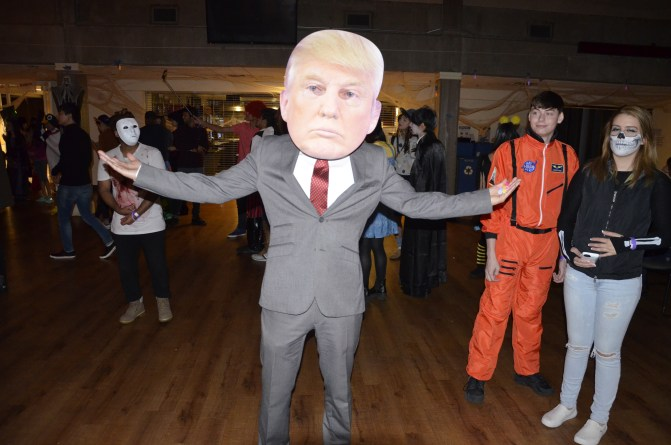 Donald Trump making an appearance on the dance floor. Photo by Brian Tockey / The Watchdog