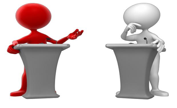 two people Debating