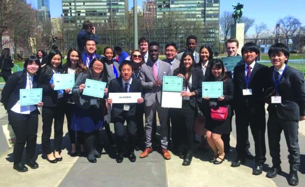 Students at Model UN