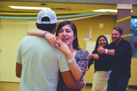Dancing at Latino Night.