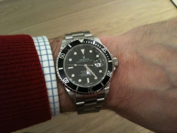Rolex Submariner 116610 Watch on Wrist