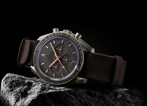 Omega Moonwatch on the rock