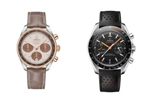 "Omega Speedmaster 38 mm Cappuccino and Speedmaster Master Chronometer ""Racing"""
