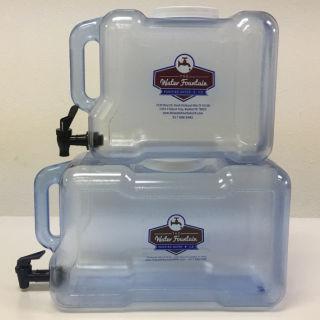 Fridge water bottles with spigot