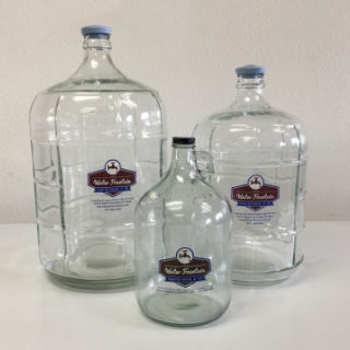 Glass bottles 1, 3, & 5 gallon
