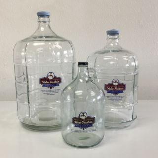 Glass bottles 1, 3, & 5 gallon