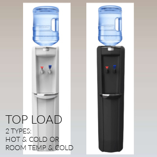 Top loading water coolers