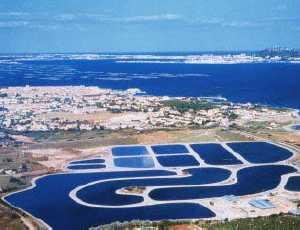 Construction of waste stablization ponds water treatment for Design of stabilization pond