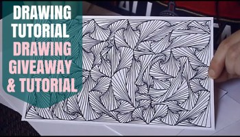 ASMR Show  Tell With Pointer  Zentangles My New Drawings