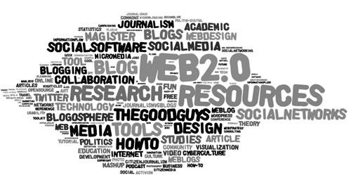 Wordle word map of my del.icio.us account