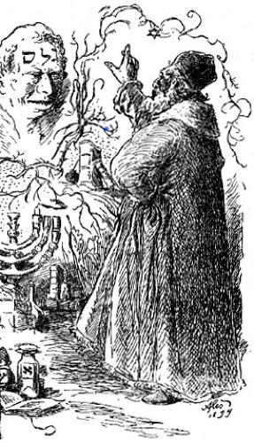 Rabi Loew and Golem, 1899, by Mikoláš Aleš. Source Wikipedia (PD)