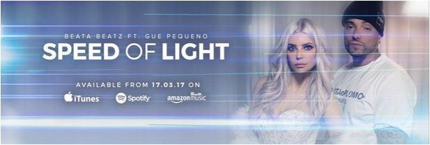 La cover di Speed Of Light, collaborazione tra la tedesca Beata Beatz e il rapper italiano Gué Pequeno.