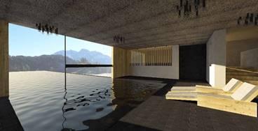Una moderna struttura in accordo con la natura del Sud Tirol.