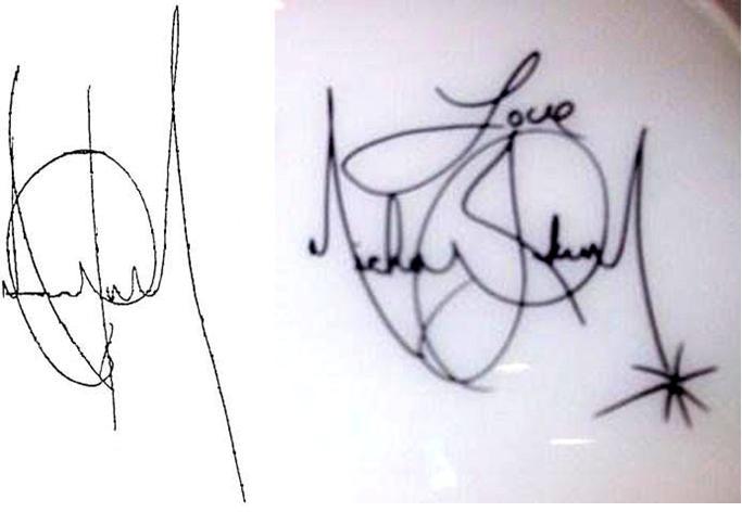 Firma di Michael Jackson