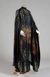 Mila Schön Abito da sera 1966-67 Cady di seta ricamato con perline dorate e grigio antracite Dono Chiara Boni Provenienza Maria Teresa Masetti Fedi