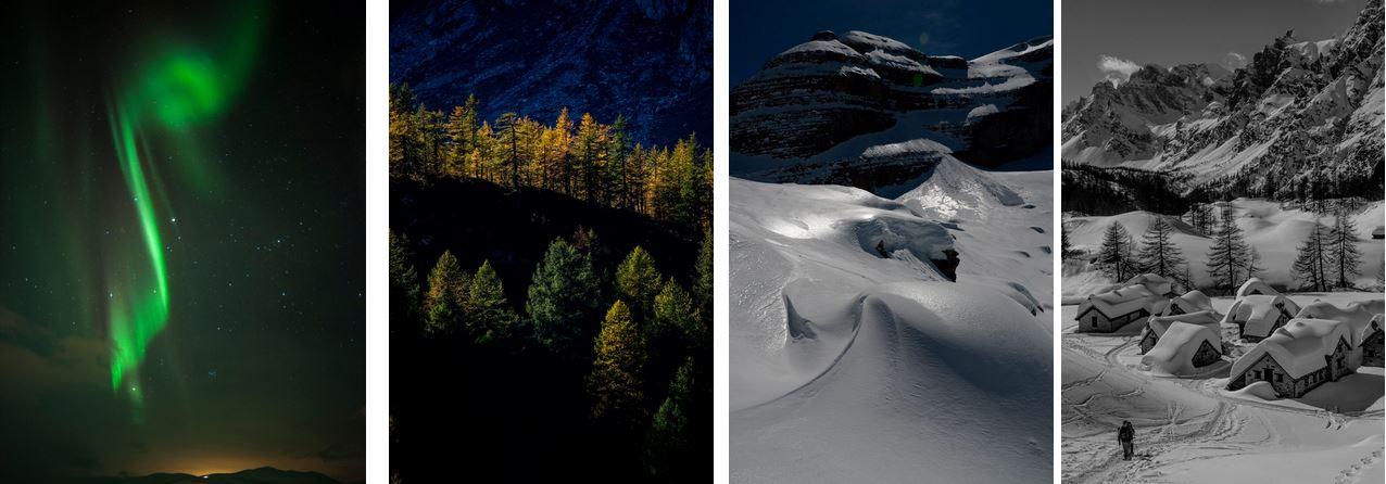 Le fotografie in mostra a Fiere di Parma per il salone del turismo outdoor.