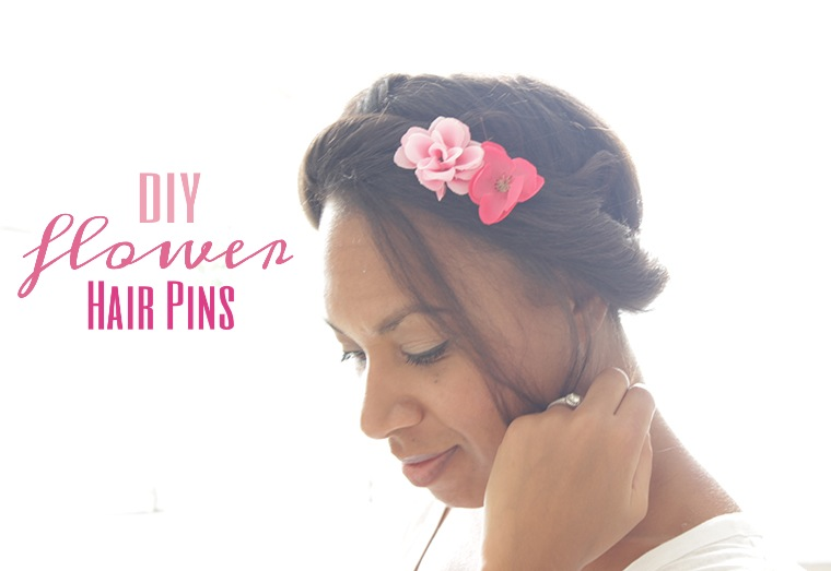 DIY Flower Hair Pins, The way to my Hart,