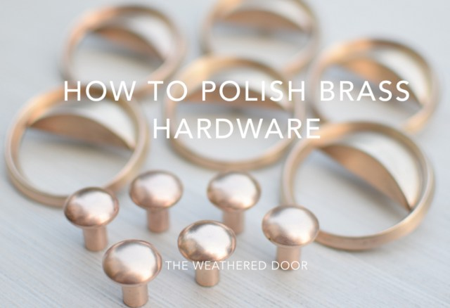 How to Polish Brass Hardware video tutorial | from The Weathered Door wd-1