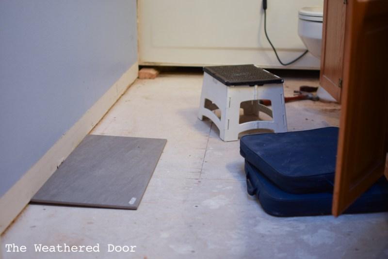 Guest Bathroom Demo | One Room Challenge Week 2