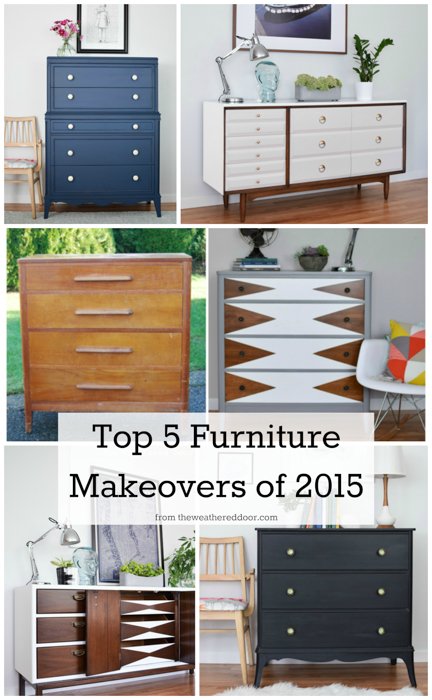 Top 5 Furniture Makeovers of 2015 from The Weathered Door | theweathereddoor.com-1