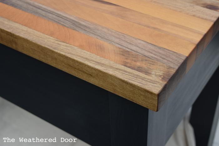 Woodworking Alder Custom Kitchen Island