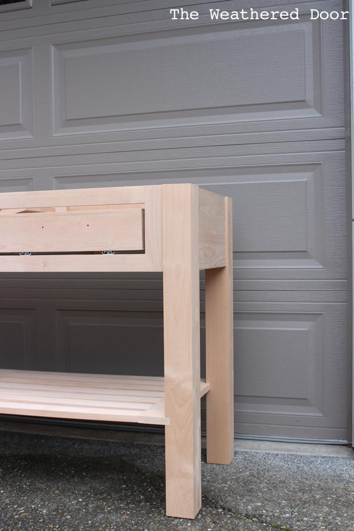Woodworking Alder Custom Kitchen Island progress