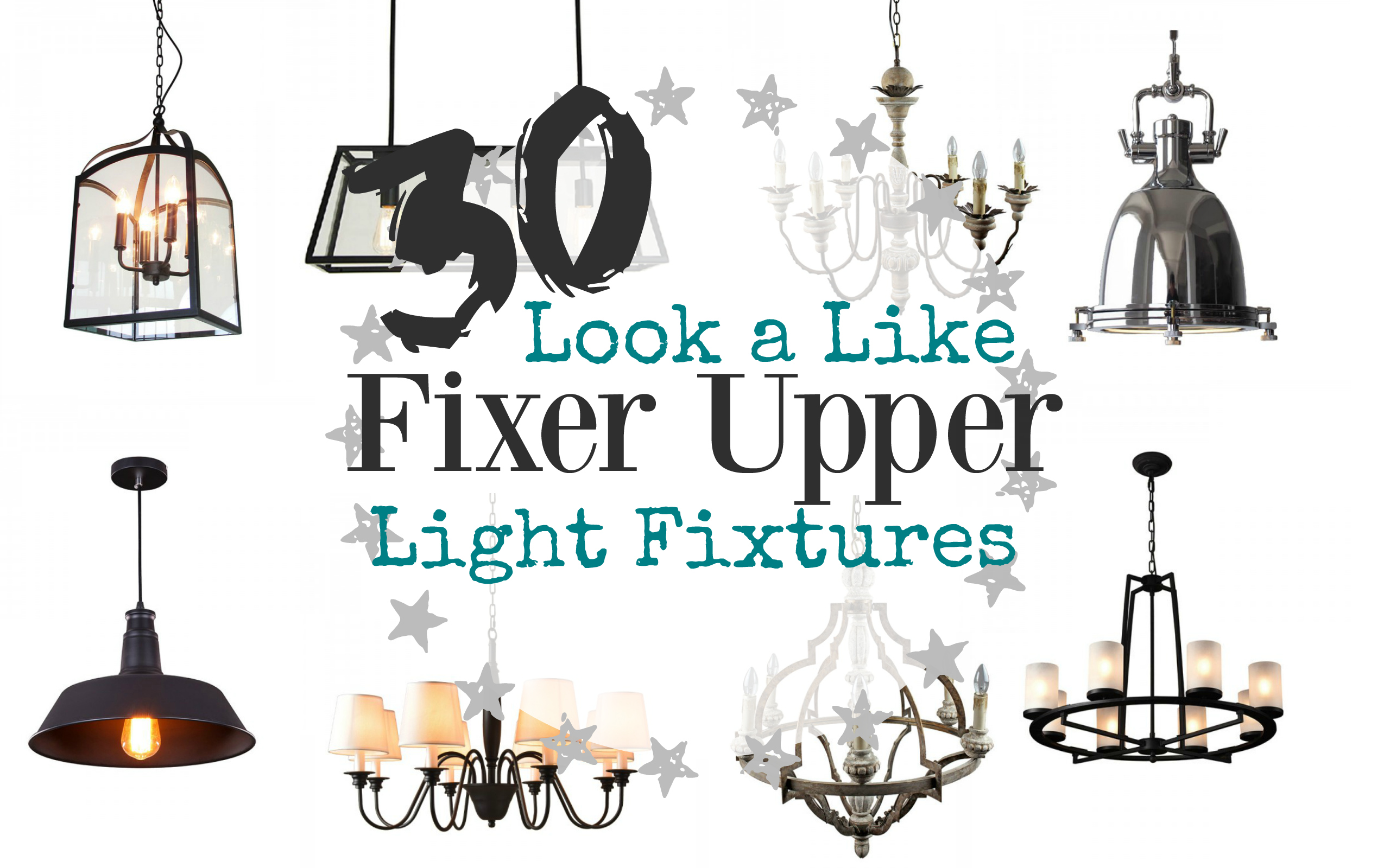 look a like fixer upper light fixture