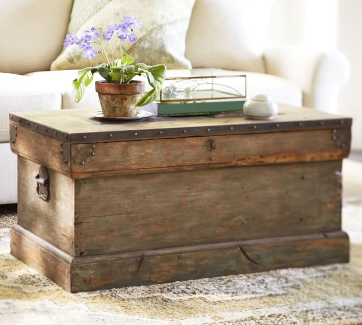 wood trunk coffee table the weathered fox