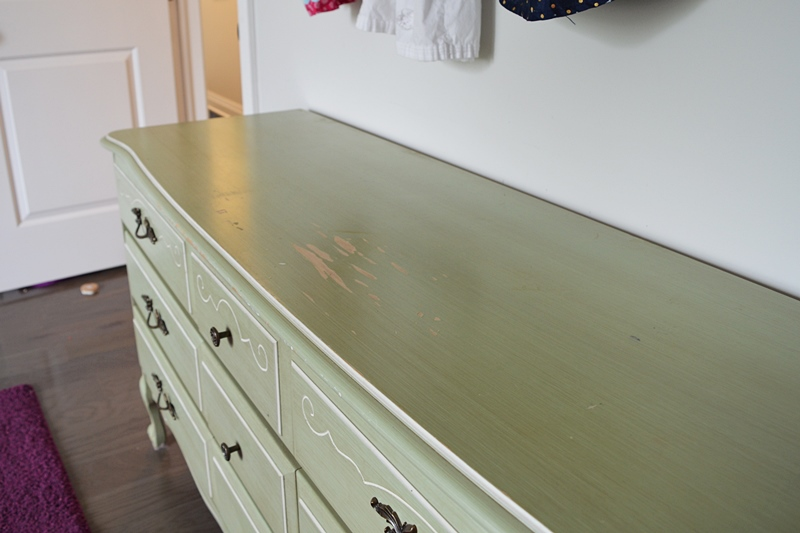 French provincial dresser makeover using general finishes milk paint