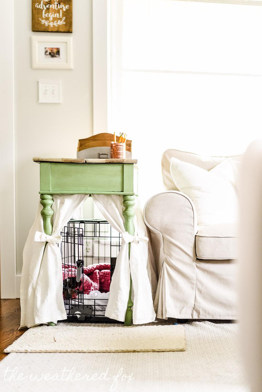 DIY Dog Crate Cover Ten Minute Farmhouse Style Ikea