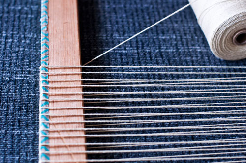 How to start a Lap Loom for weaving – Warping your loom   The ...