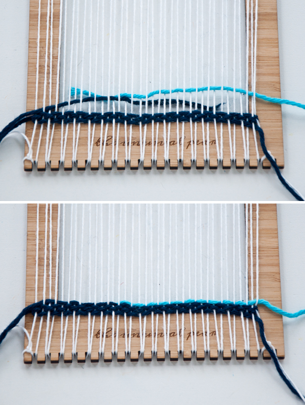 Adding Thread - how to use your Unusual Pear Loom|The Weaving Loom