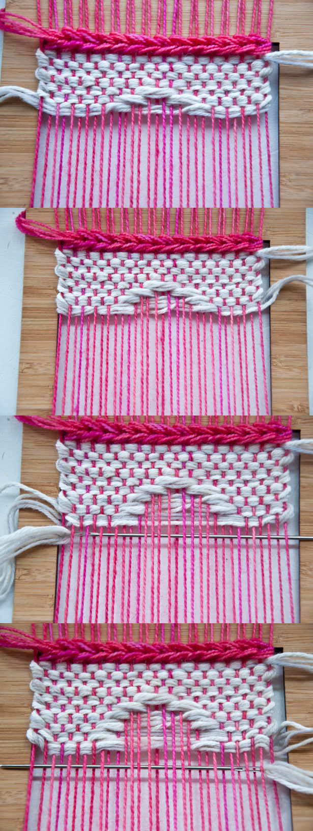 Weaving Weft Over Shapes | The Weaving Loom