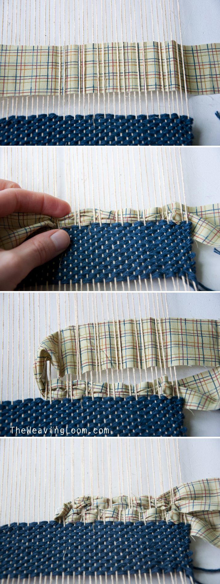 Weaving Technique || Weaving with Fabric | The Weaving Loom
