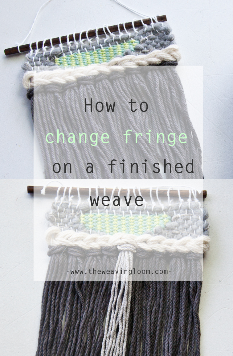 How to Change Fringe in a Finished Weave   The Weaving Loom