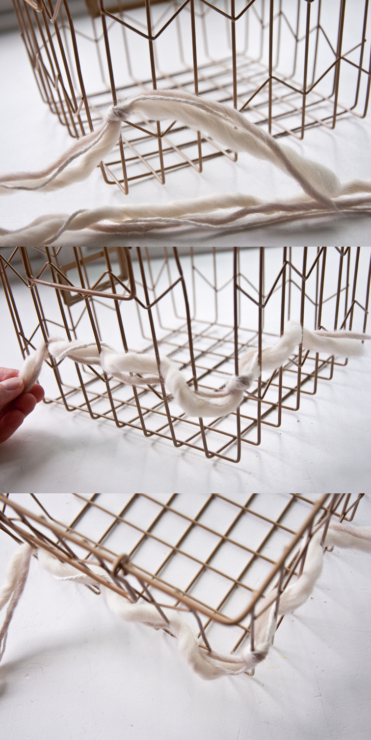 How to Cozy Up a Wire Basket | The Weaving Loom